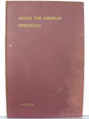 Sennet for Coriolan by Fergus N Fitzgerald