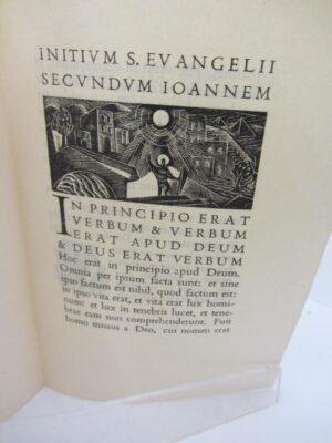 Initium S Evangelii Secundum SJoannem. Dolmen Press (1953) by Elizabeth Rivers