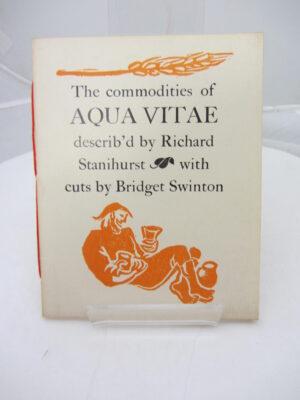 Aqua Vitae. Dolmen Press (1956) by Richard Stanihurst