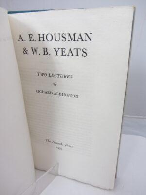 AE Houseman and WB Yeats by WB Yeats (Richard Aldington)