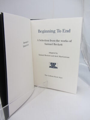 Beginning to End. Limited Signed Edition (1988) by Samuel Beckett