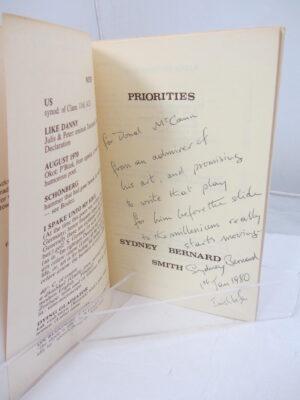 Priorties.  Poems 1967-77. by Sydney Bernard Smith.