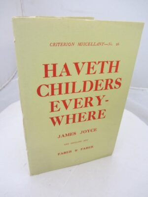 Haveth Childers Everywhere (1931) by James Joyce