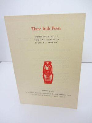 Three Irish Poets. John Montague