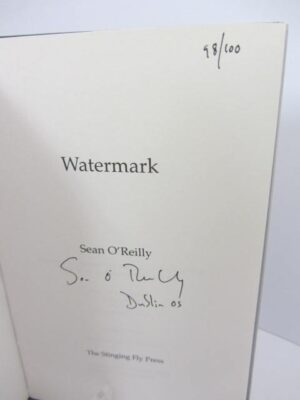 Watermark. One of 100 Signed Copies. by Sean O'Reilly