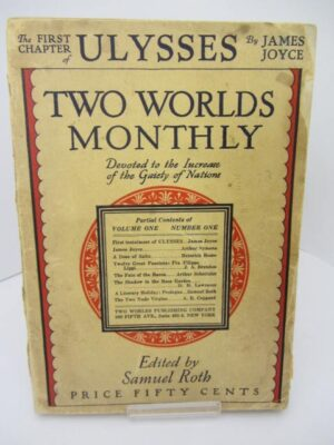 Ulysses Serialized in Two Worlds Monthly (New York 1926) by James Joyce