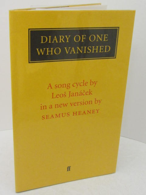 Diary Of One Who Vanished. Signed Copy (1999) by Seamus Heaney