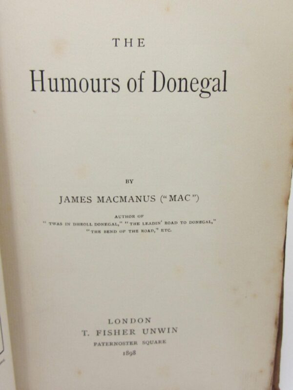 The Humours of Donegal (1898) by James MacManus