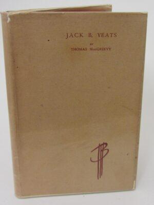 Jack B. Yeats.  An Appreciation (1945) by Thomas MacGreevy