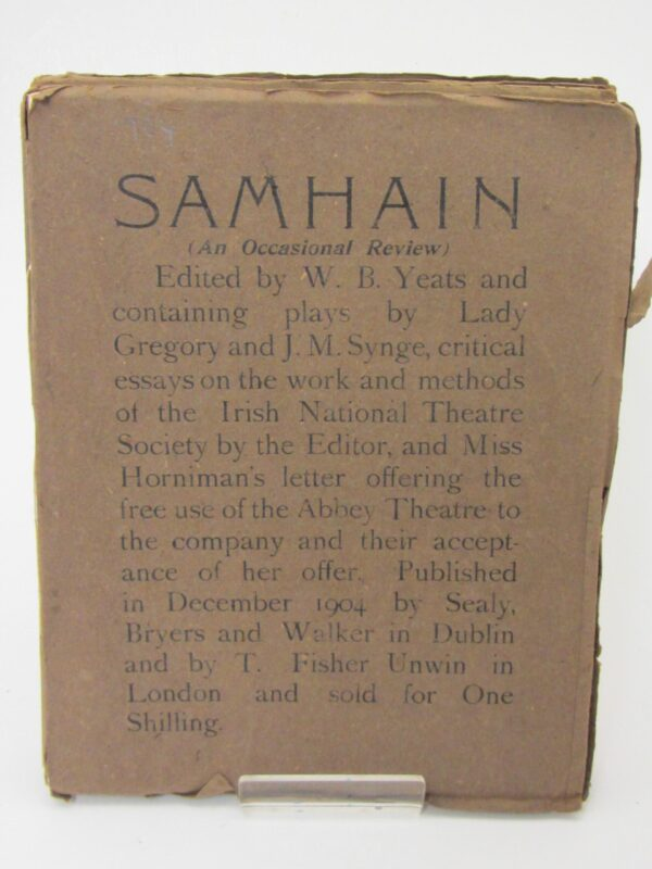 Samhain: An Occasional Review. Complete Set (1901-1908) by W.B. Yeats