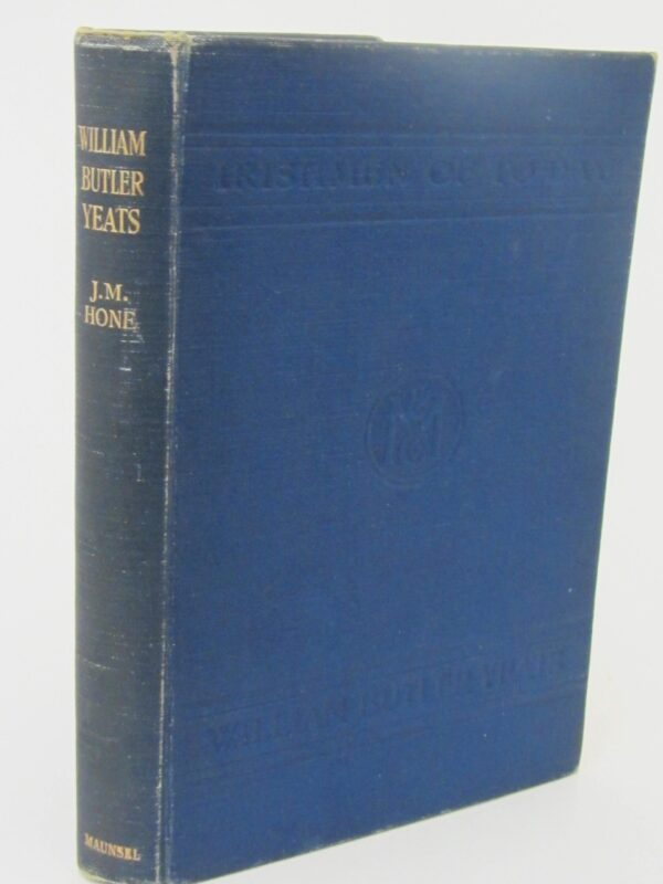 William Butler Yeats. Family Association Copy (1915) by J. M. Hone