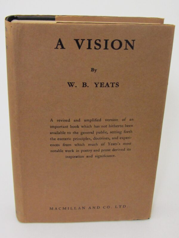 A Vision. First Trade Edition (1937) by W.B. Yeats