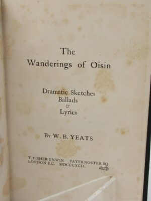 The Wanderings of Oisin. Second Edition (1892) by W.B. Yeats