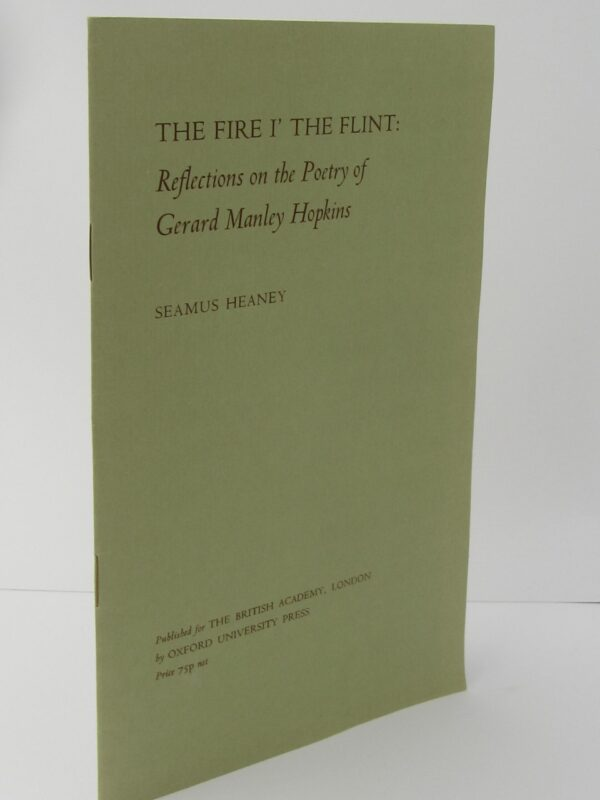 The Fire I' The Flint. Signed Copy (1975) by Seamus Heaney
