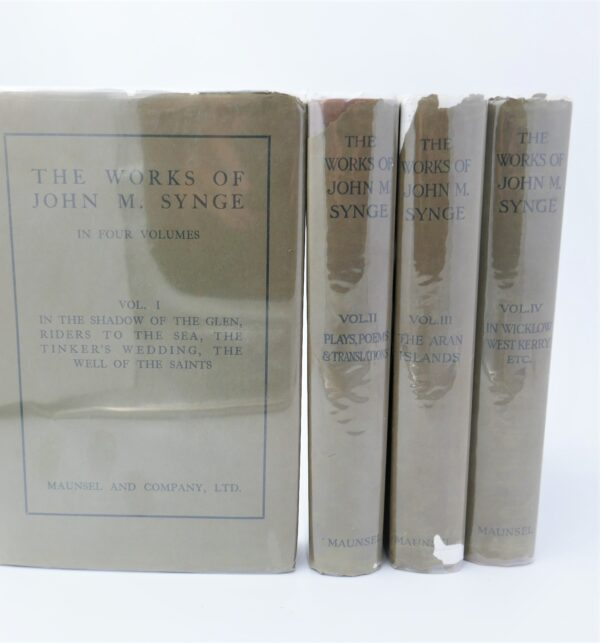 The Works of John M. Synge. Four Volumes (1910) by John M. Synge