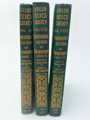 The Poems of David Ó Bruadair (1910-1917) by Rev. John C. MacErlean
