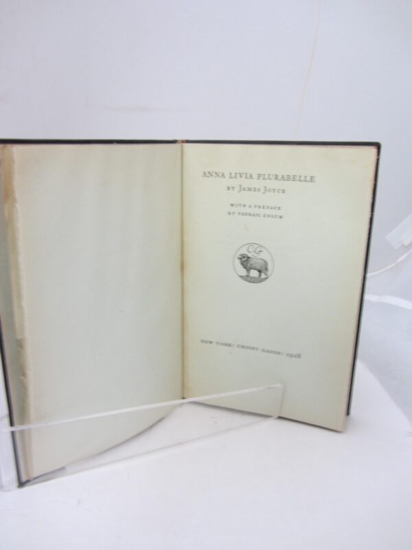 1928. One of 50 Copies. by James Joyce
