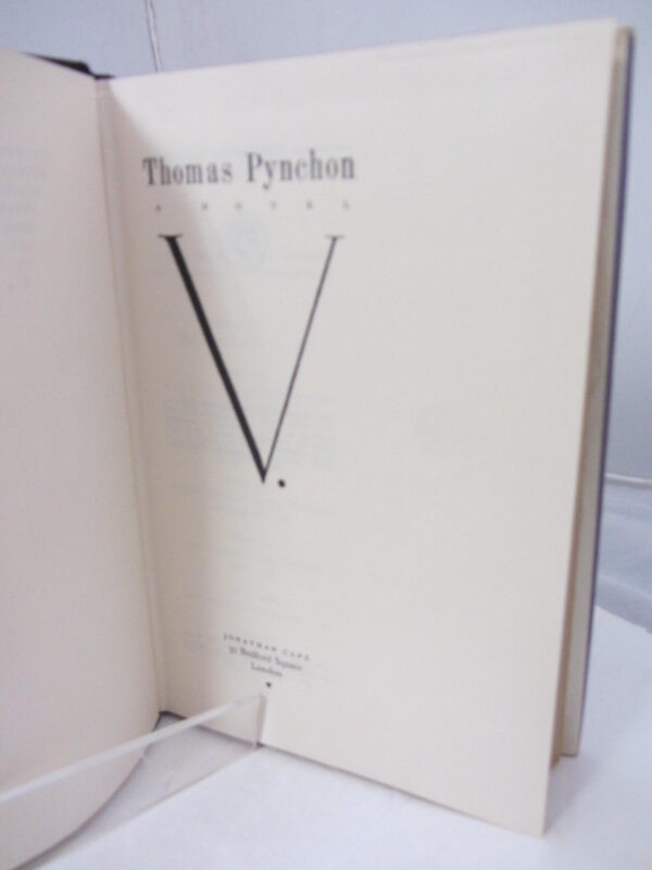 1963. First UKedition (First Impression). by Thomas Pynchon