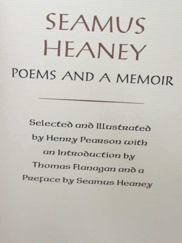 Poems and a Memoir. Limited Signed Edition (1982) by Seamus Heaney