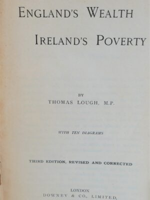 England's Wealth Ireland's Poverty (1897) by Thomas Lough