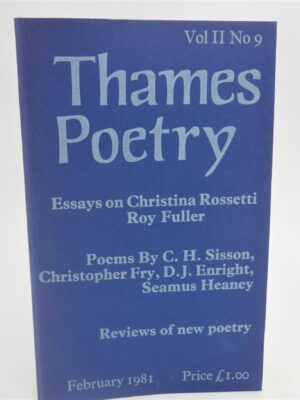 The Underground [in] Thames Poetry. Signed Copy (1981) by Seamus Heaney