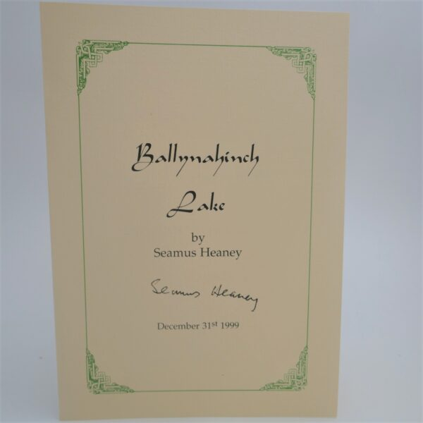1999. Signed Copy by Seamus Heaney