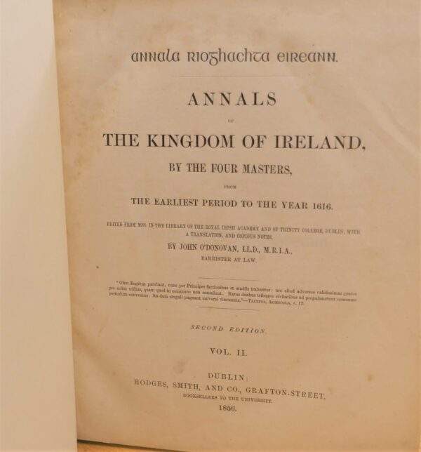The Annals of the Kingdom of Ireland.  By the Four Masters (1856) by John O'Donovan